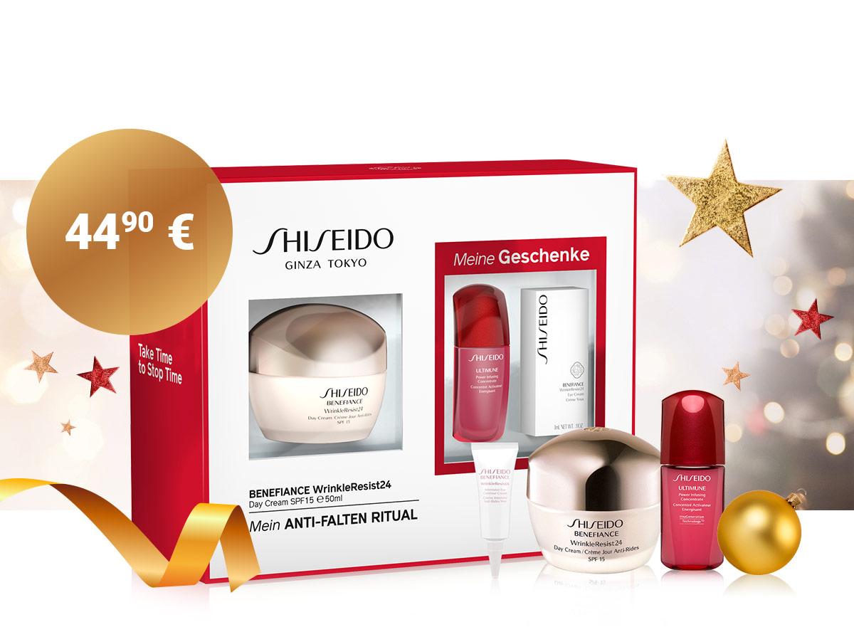 Kozmetická sada proti vráskam Shiseido v akcii