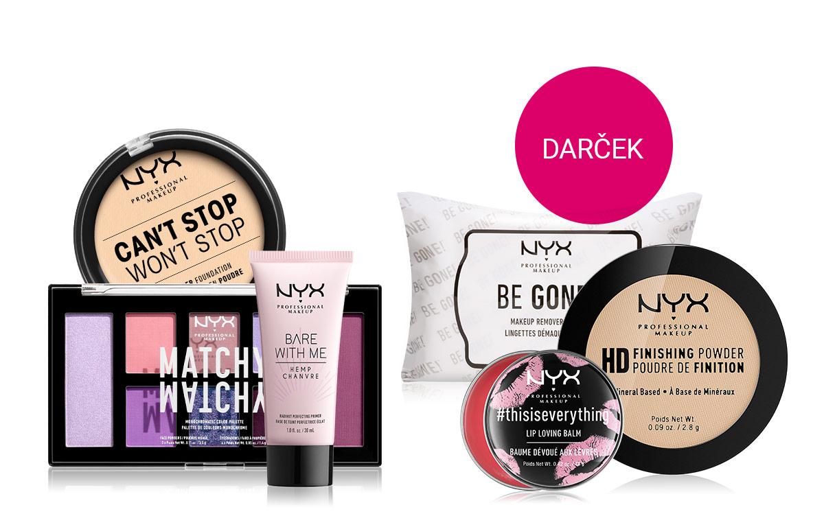 Darček v plnej veľkosti pri nákupe NYX Professional Makeup nad 20 €