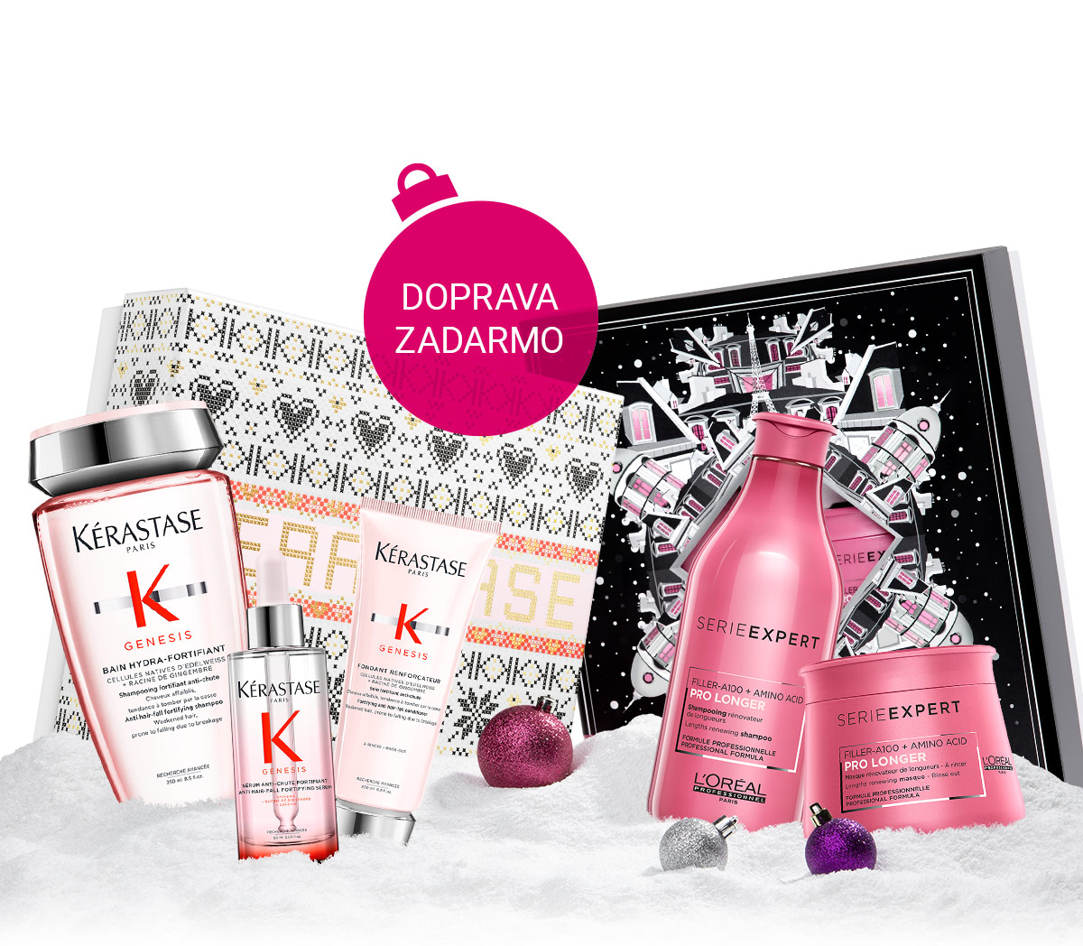 Vianočné sady L'Oréal Professionnel alebo Kérastase s dopravou zadarmo